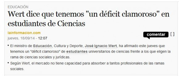Noticia en La Información - 18 septiembre 2014