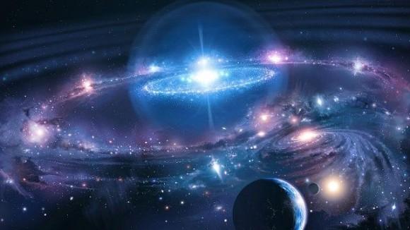 Concepto artístico de materia oscura y energía oscura