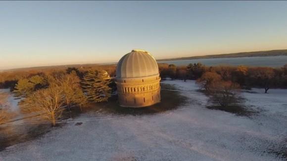 El Observatorio Yerkes en Williams Bay, Wisconsin