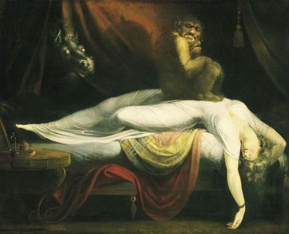 La pesadilla de Henry Fuseli (1781) representando un demonio íncubo
