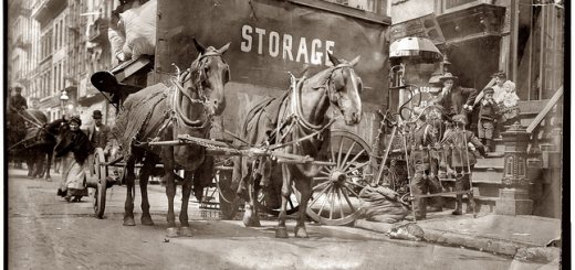 """Moving day"". Nueva York 1908"