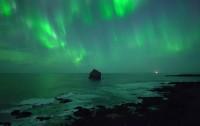 Aurora vista desde un dron en Islandia