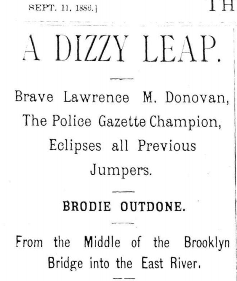 Artículo publicado por The Nacional Police Gacette en septiembre de 1886 | Dominio público