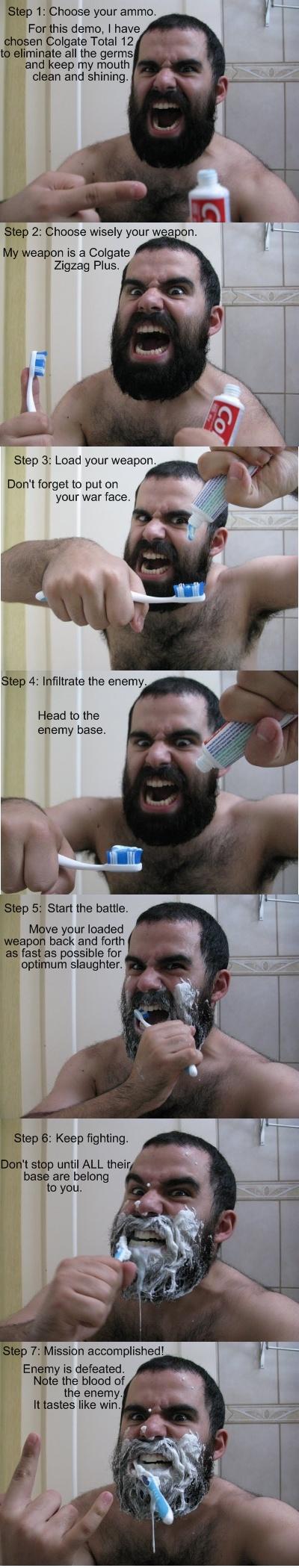 Lavarse los dientes en Esparta