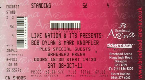 Mark Knopfler - Bob Dylan Glasgow 2011