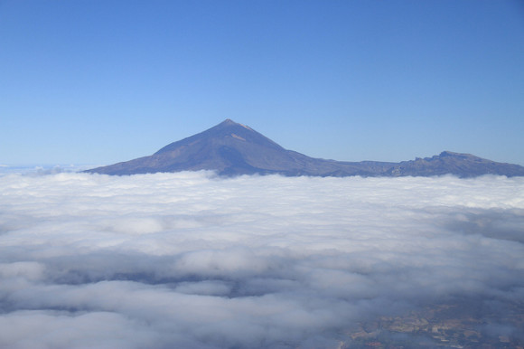 Teide from air