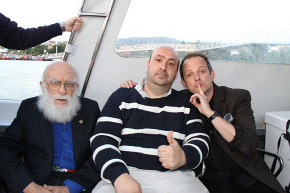 Con James Randi y Apollo Robbins