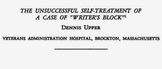 "The Unsuccessful Self-Treatment of a Case of ""Writer's Block"" (El fracasado auto-tratamiento de un caso de ""bloqueo del escritor"")"