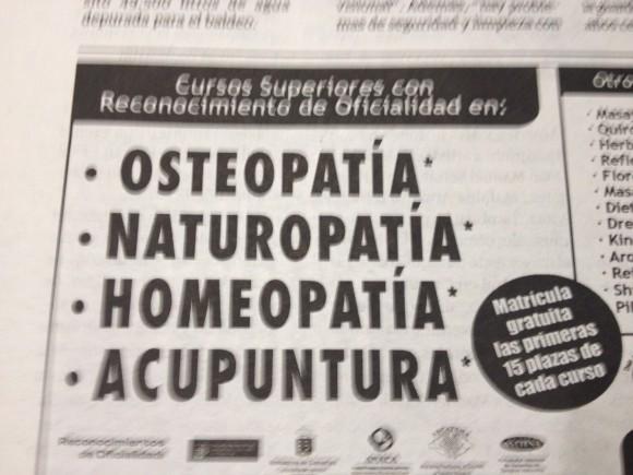 """El Gobierno de Canarias """"oficialmente reconoce"""" los siguientes cursos..."""