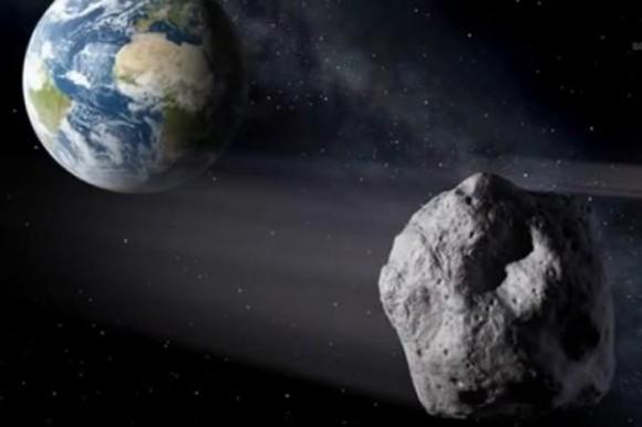 Recreacion artistica del asteroide 2014 RC realizada por la NASA
