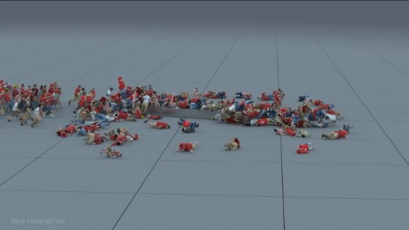 Crowd dynamics test using Miarmy for Maya - Dave