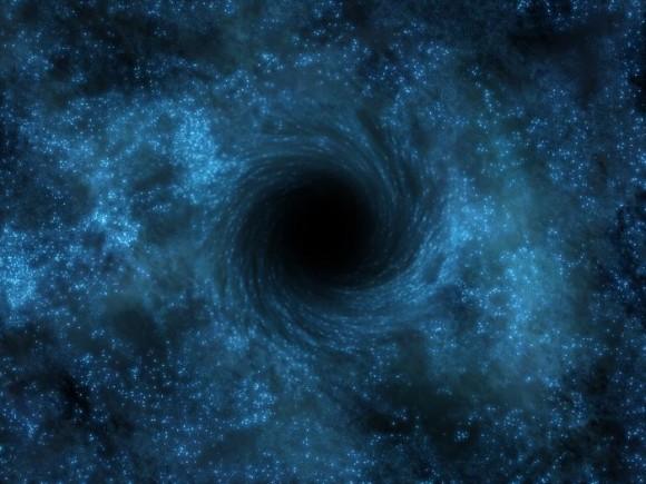 Representación artística de un agujero negro