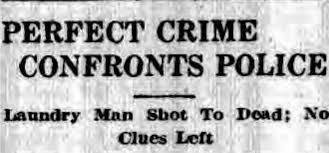 """""""Un crimen perfecto se enfrenta a la policía. Lavandero muerto a tiros. No dejaron pistas"""""""