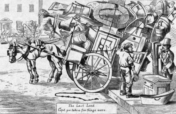 Un cliente pregunta a un carretero: ¿Puede llevar unas pocas cosas más? 1 de mayo de 1869