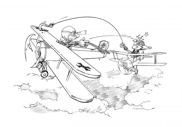 Ilustración de Xurxo Vázquez para el libro ¡Fuego a discreción!