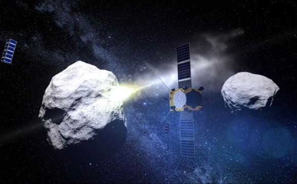 Recreación artística de la misión conjunta de ESA/NASA