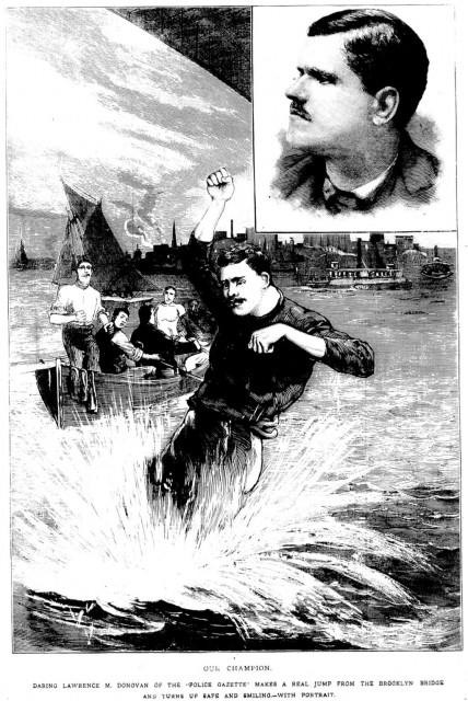 El hombre que batía récords saltando desde puentes (1886-1888)
